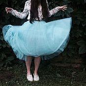 Одежда ручной работы. Ярмарка Мастеров - ручная работа Нарядная юбка-солнце из фатина. Handmade.