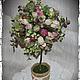 """Топиарии ручной работы. Ярмарка Мастеров - ручная работа. Купить Топиарий """"Счастье из роз"""". Handmade. Топиарий, Дерево счастья"""