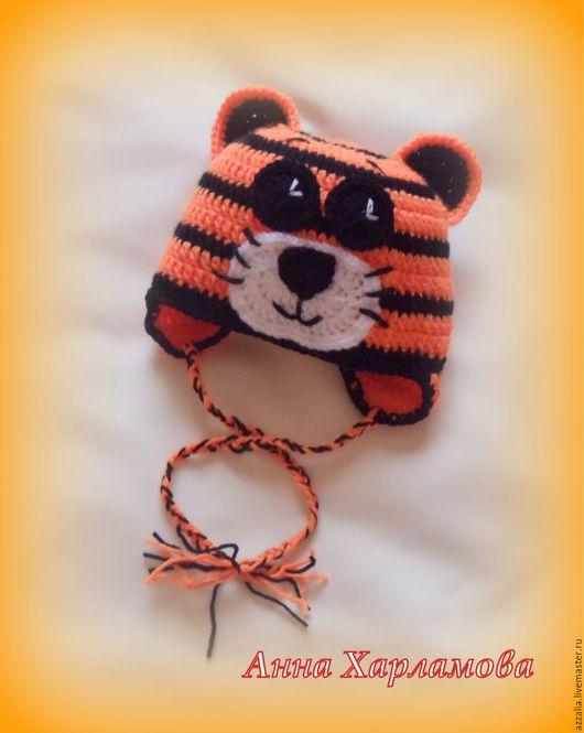 """Шапки и шарфы ручной работы. Ярмарка Мастеров - ручная работа. Купить Шапочка """"Тигренок"""". Handmade. Рыжий, тигр, шапочка, зверошапочка"""