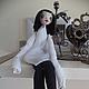 Коллекционные куклы ручной работы. Ярмарка Мастеров - ручная работа. Купить Кукла из паперклея. Handmade. Чёрно-белый, коллекционная кукла