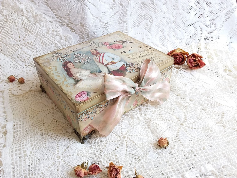 Love Music box, Decoupage music Box, Box, Kiev,  Фото №1