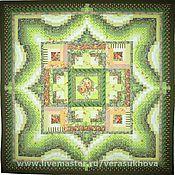 """Для дома и интерьера ручной работы. Ярмарка Мастеров - ручная работа Одеяло """"Первая зелень"""" 200х200см. Handmade."""