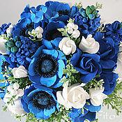 Цветы и флористика ручной работы. Ярмарка Мастеров - ручная работа Букет из синих цветов. Handmade.