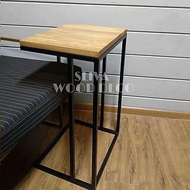 Мебель ручной работы. Ярмарка Мастеров - ручная работа Кофейный столик с дубовой столешницей лофт. Handmade.