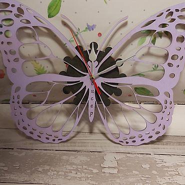 Для дома и интерьера ручной работы. Ярмарка Мастеров - ручная работа Часы в виде бабочки. Handmade.
