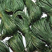 Материалы для творчества handmade. Livemaster - original item Cord waxed marsh-green, 10 meters (1 mm). Handmade.