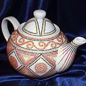 """Посуда ручной работы. Ярмарка Мастеров - ручная работа """"Тонкое очарование роскоши"""" заварочный чайник фарфоровый. Handmade."""