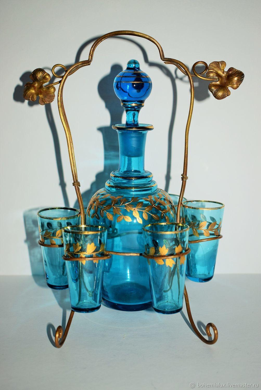 Винтаж: Старинный набор Царская Россия купоросное стекло ...