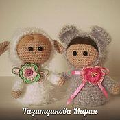 Куклы и игрушки ручной работы. Ярмарка Мастеров - ручная работа Куколки в костюмах животных. Handmade.
