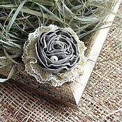 Украшения handmade. Livemaster - original item Textile brooch-Pistachio pearl. Handmade.