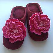 Обувь ручной работы. Ярмарка Мастеров - ручная работа Тапочки-шлепки валяные. Handmade.