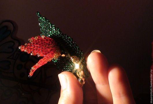 """Броши ручной работы. Ярмарка Мастеров - ручная работа. Купить Брошь из стекляруса """" Аленький цветочек """". Handmade. брошь"""