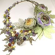 Украшения handmade. Livemaster - original item Morning Sun Vineyard. Necklaces, brooches, handmade flowers.. Handmade.