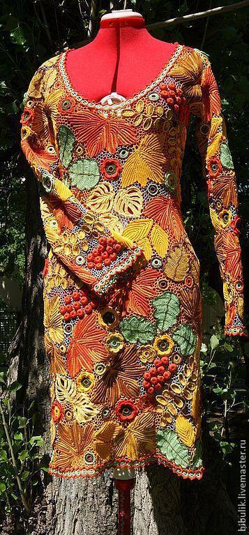 """Платья ручной работы. Ярмарка Мастеров - ручная работа. Купить Платье """" Краски осени """" продано. Handmade. Цветочный"""