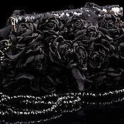 Сумки и аксессуары ручной работы. Ярмарка Мастеров - ручная работа Сумочка с черными розами. Handmade.