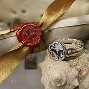 "Signet Ring handmade. Livemaster - original item FierceBeast ""Horse"", signet ring 15-16 cen.. Handmade."