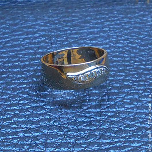 """Свадебные украшения ручной работы. Ярмарка Мастеров - ручная работа. Купить Кольцо """"Союз"""". Handmade. Золото, проба, кольцо, обручальное"""