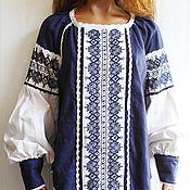 """Одежда ручной работы. Ярмарка Мастеров - ручная работа Туника женская """"Синильга"""", вышиванка. Handmade."""