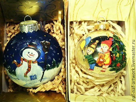 """Новый год 2017 ручной работы. Ярмарка Мастеров - ручная работа. Купить Новогодний шар """"Дети"""". Handmade. Комбинированный, Новый Год"""