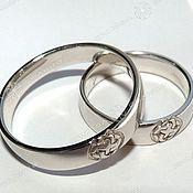 Русский стиль handmade. Livemaster - original item Svadebnik ring (rhodium). Handmade.