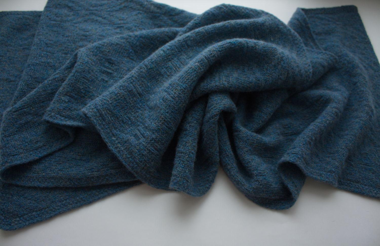 Blue knitted scarf for men/women 'Aqua'', Wraps, Saratov,  Фото №1