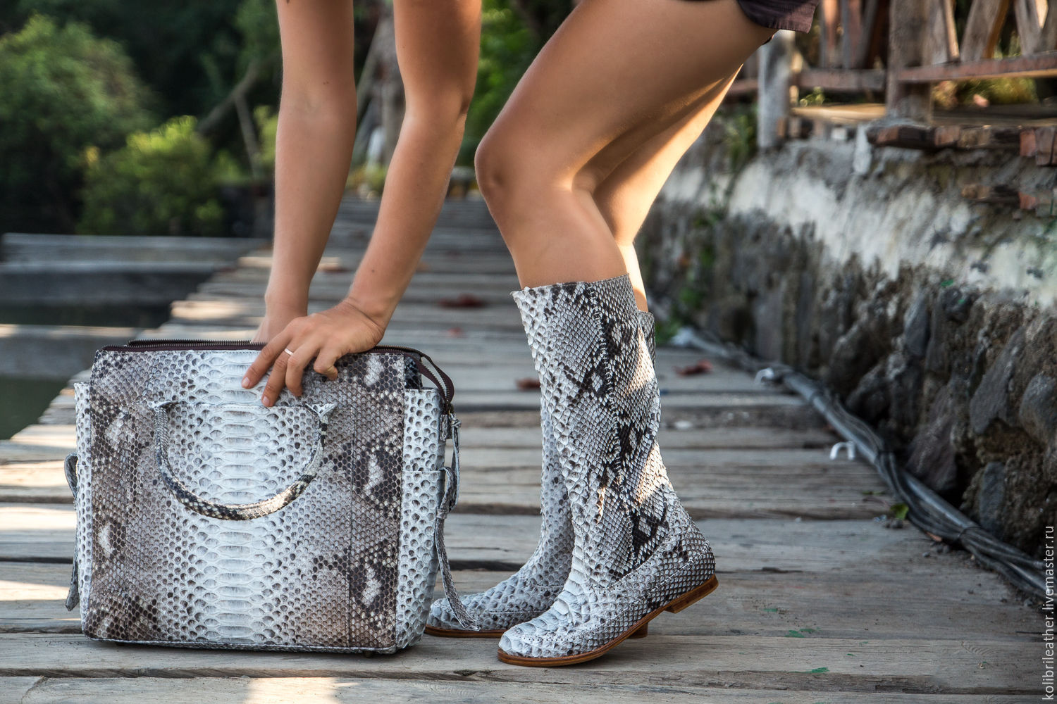 Handmade Shoes handmade. Livemaster - handmade. Buy Boots genuine Python leather. Leather boots with Python.Gift