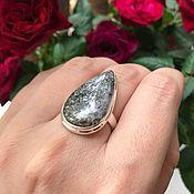 Винтаж handmade. Livemaster - original item Dendritic opal ring Through thorns to the Stars, 925 silver, 19. Handmade.