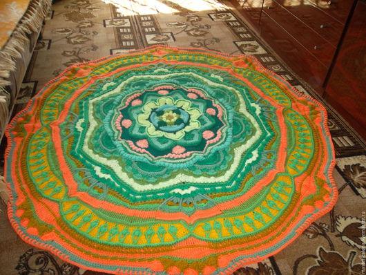 Текстиль, ковры ручной работы. Ярмарка Мастеров - ручная работа. Купить Мандала в зеленых тонах. Handmade. Мандала, ручная работа