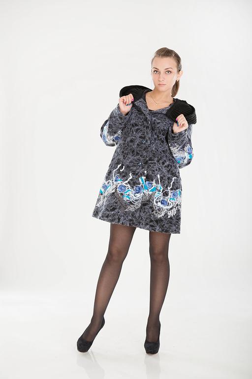 Верхняя одежда ручной работы. Ярмарка Мастеров - ручная работа. Купить СВ 39. Handmade. Серый, модное полупальто