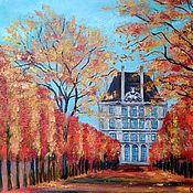 Картины и панно handmade. Livemaster - original item Autumn in Paris oil painting. Handmade.