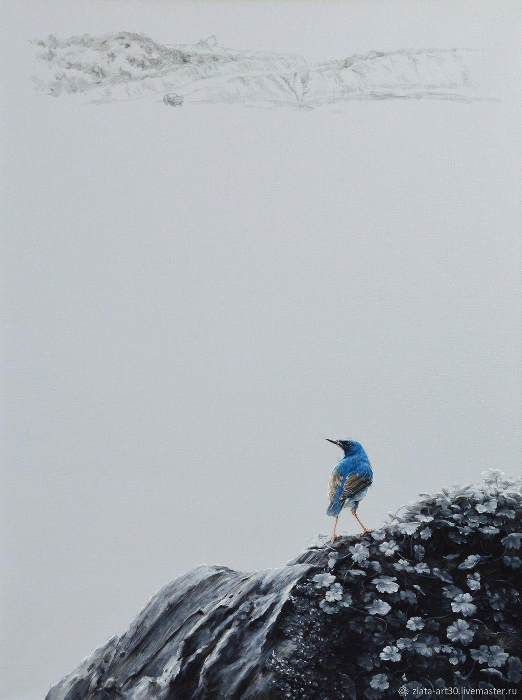 """Картина """"Птичка на холме"""" маслом на холсте, Картины, Москва,  Фото №1"""
