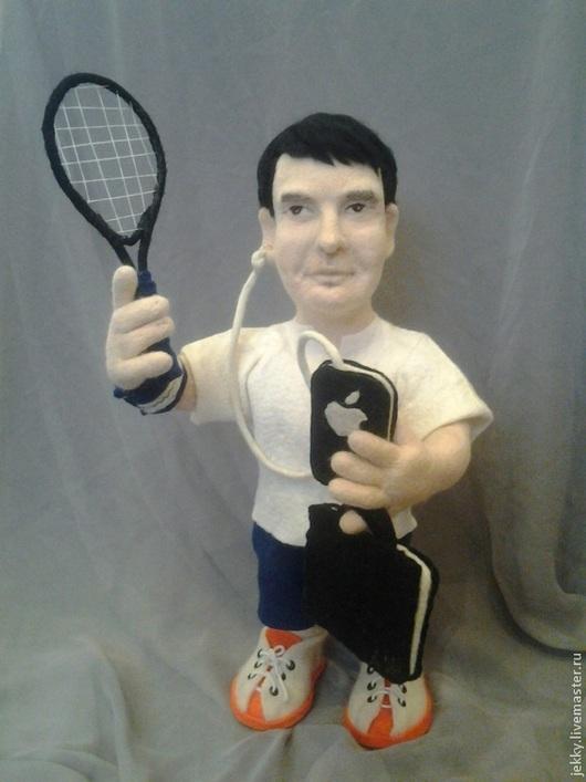 Портретные куклы ручной работы. Ярмарка Мастеров - ручная работа. Купить Портретная кукла на заказ по фото - Деловой парень на корте. Handmade.