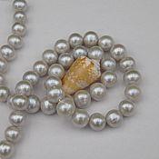 Материалы для творчества handmade. Livemaster - original item Pearls natural white gray beads 10-11mm AAA grade. Handmade.