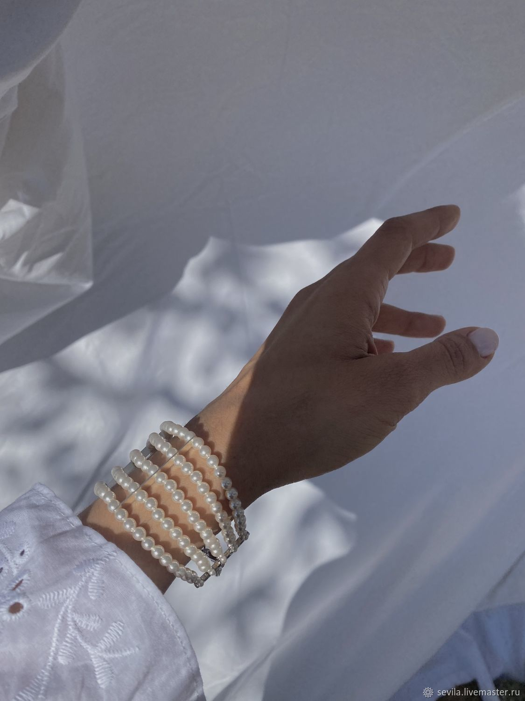 Браслет MARIA из жемчужных бусин, Браслет из бусин, Санкт-Петербург,  Фото №1