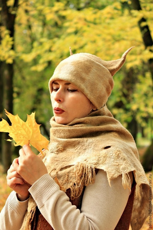 """Комплекты аксессуаров ручной работы. Ярмарка Мастеров - ручная работа. Купить Комплект """"White beige Fox"""".. Handmade. Бежевый"""