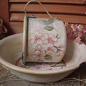 """Для дома и интерьера ручной работы. Ярмарка Мастеров - ручная работа """"Запах цветущих яблонь""""  винтажный набор. Handmade."""