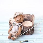 Куклы и игрушки ручной работы. Ярмарка Мастеров - ручная работа Сева мишка тедди 16 см. Handmade.