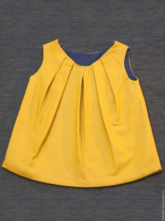 Одежда для девочек, ручной работы. Ярмарка Мастеров - ручная работа. Купить Платье джинсовое горчичного цвета, красного цвета или цвета тиффани. Handmade.