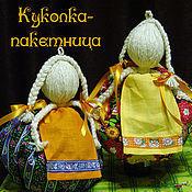 Для дома и интерьера ручной работы. Ярмарка Мастеров - ручная работа кукла пакетница. Handmade.
