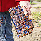 Сумки и аксессуары handmade. Livemaster - original item Leather purse for men