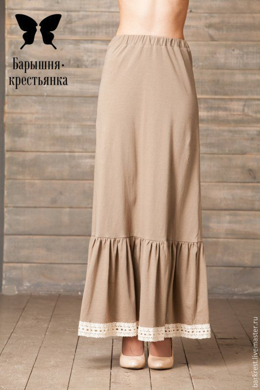 Теплая нижняя юбка
