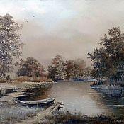 Картины и панно handmade. Livemaster - original item Oil painting Paisagem Vladimir Chernov. Handmade.