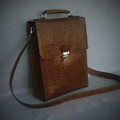 Сумки и аксессуары handmade. Livemaster - original item Bag-tablet 0045. The embossed Caiman. Individual order. Handmade.