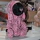 Мишки Тедди ручной работы. Заказать Зайка в пижамке. Алёна Машинская. Ярмарка Мастеров. Зайчиктедди, розовый, немецкая вискоза
