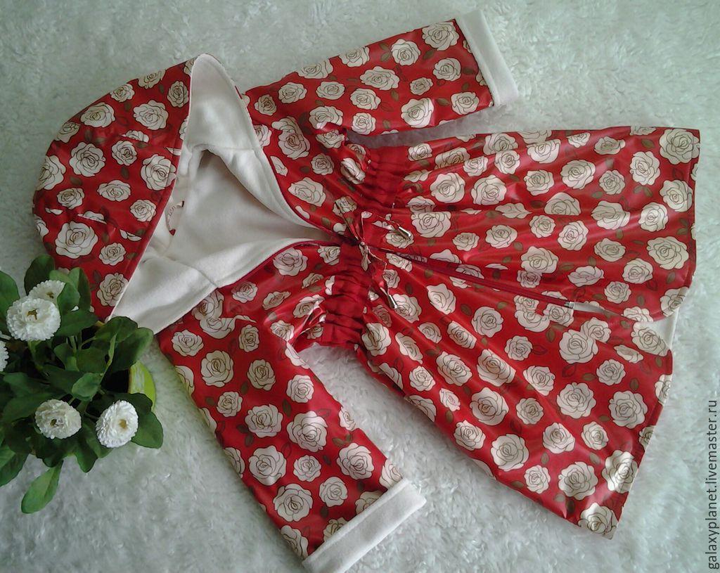 Плащик красный с розами для девочки, Верхняя одежда детская, Солнечногорск,  Фото №1