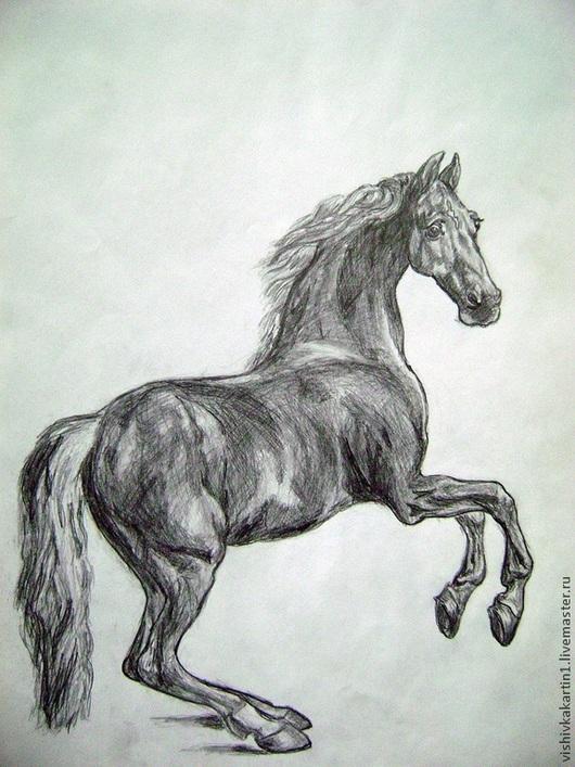 Конь. Графическая репродукция картины Стаббса. Ковалевская Ангелина