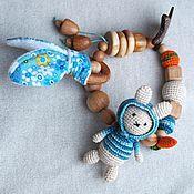 """Одежда ручной работы. Ярмарка Мастеров - ручная работа Грызунок-развивашка """"Зайчик"""". Handmade."""