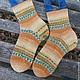 Носки, Чулки ручной работы. Заказать Вязаные женские носки Рыжики. Анастасия Хомякова-Тарасова. Ярмарка Мастеров. Вязаные носки