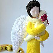 Куклы и игрушки ручной работы. Ярмарка Мастеров - ручная работа Ангел мама в желтом. Handmade.