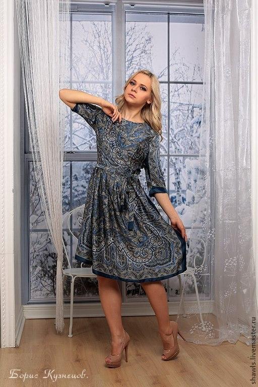 """Платья ручной работы. Ярмарка Мастеров - ручная работа. Купить Платье """"Новелла"""" из шёлка. Handmade. Разноцветный, платье вечернее"""